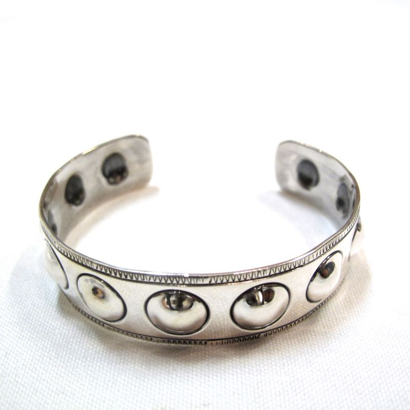 画像1: NORTH WORKS 900Silver Stamp Cuff L  (1)
