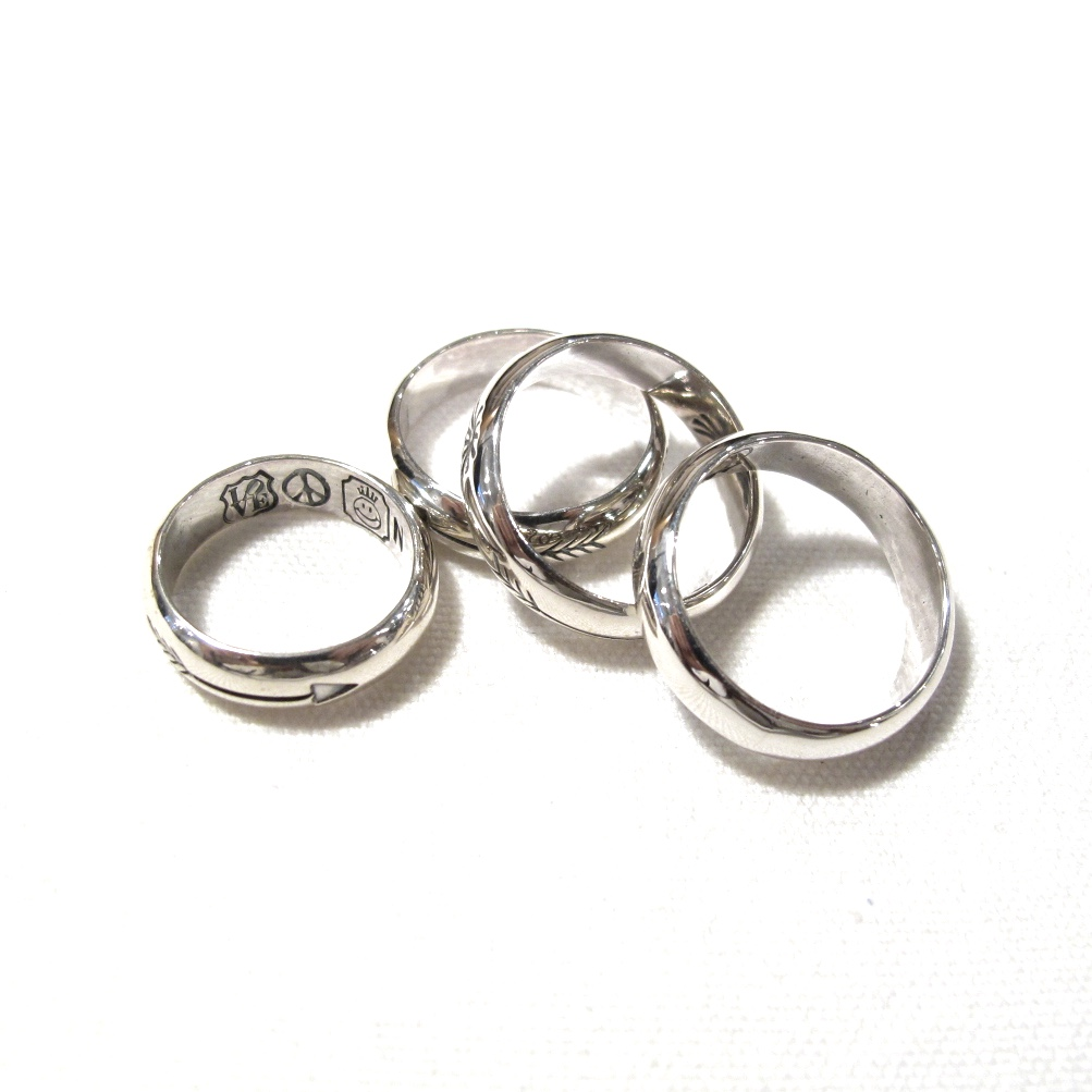 NORTH WORKS 900Silver Stamp Ring
