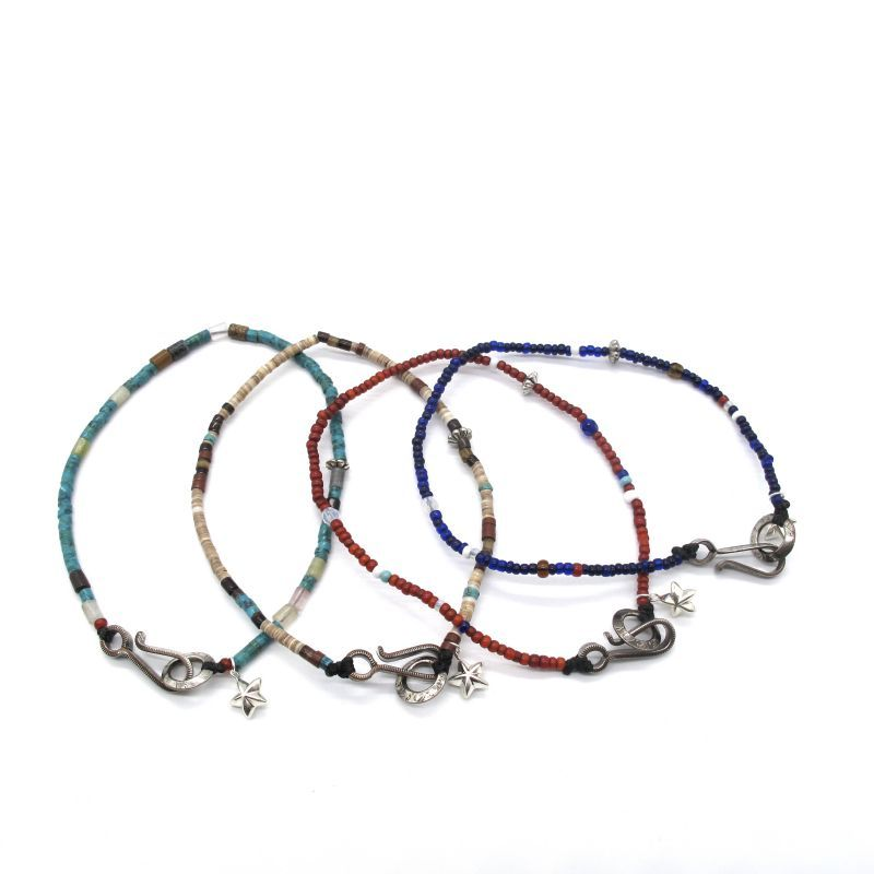NORTH WORKS Seed beads anklet