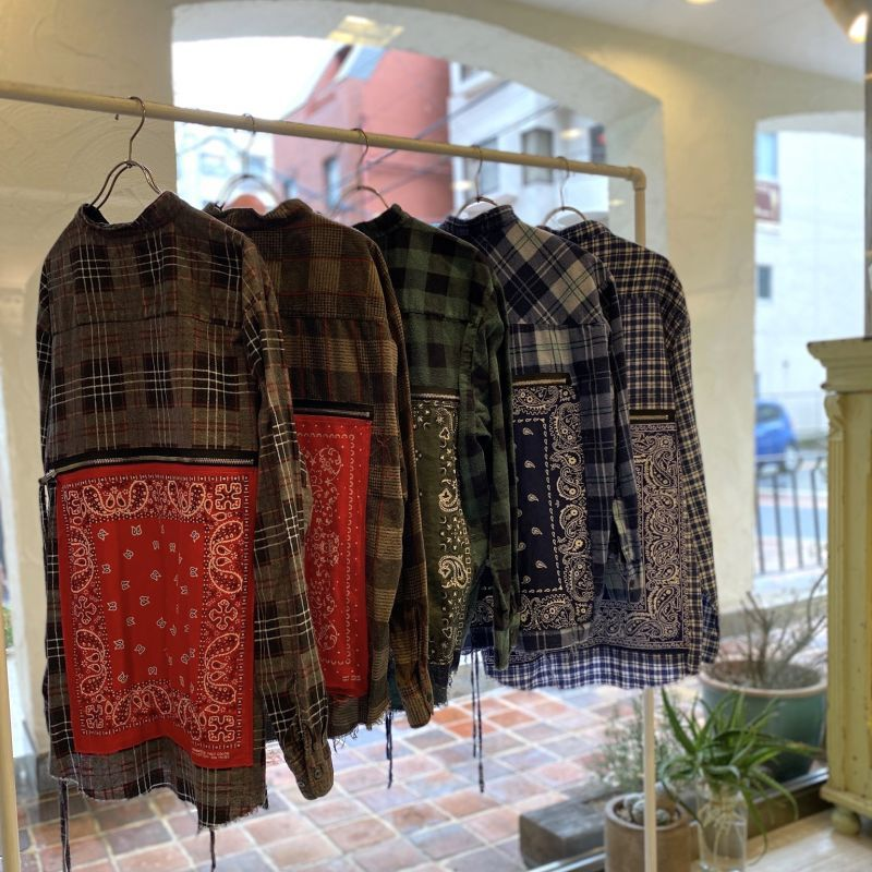 OLDPARK BANDANA BAG SHIRT FLANNEL
