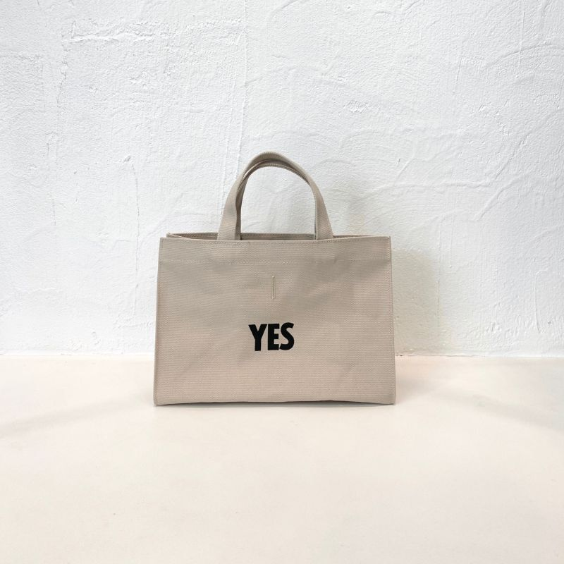 """DRESSSEN MARKET BAG X SMALL """"YES / NO THANK YOU"""" (SAND BEIGE COLOR)"""
